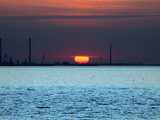 Sunset over Wilhelmshaven Photographic Print by Peter Kirschner