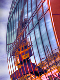 Reflection of a Crane in the Facade of an Office Tower Photographic Print by Frank Roeder