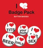 I Love Women, Mans Badge Pack Badge