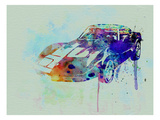Corvette Watercolor Prints by  NaxArt