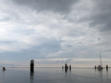 Evening Sky at the Barther Bodden in Mecklenburg-Vorpommern Photographic Print by Oliver Borchert