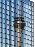 Reflection of the Rhine Tower in the Hyatt Hotel Dusseldorf Photographic Print by Frank Roeder