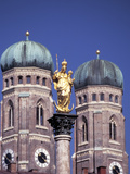 Saint Mary Column and the Frauenkirche Photographic Print