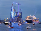 Cruise Ships in Hamburg Harbour Photographic Print