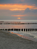 Baltic Sea Coast at Sunset in East Germany Photographic Print by Synchropics