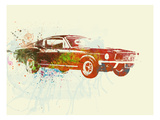 Ford Mustang Watercolor Print by  NaxArt