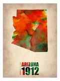 Arizona Watercolor Map Poster by  NaxArt