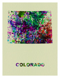 Colorado Color Splatter Map Posters by  NaxArt