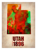 Utah Watercolor Map Posters by  NaxArt