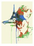Paris Romance Print by  NaxArt