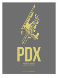Pdx Portland Poster 2 Print by  NaxArt