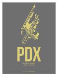 Pdx Portland Poster 2 Print by  NaxArt