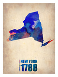 New York Watercolor Map Prints by  NaxArt