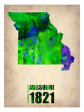 Missouri Watercolor Map Prints by  NaxArt
