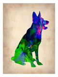 German Sheppard Watercolor Posters by  NaxArt