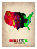 Usa Watercolor Map 2 Pósters por  NaxArt