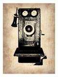 Vintage Phone 1 Print by  NaxArt