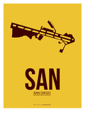 San San Diego Poster 1 Posters by  NaxArt