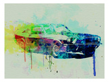 Ford Mustang Watercolor 2 Art by  NaxArt