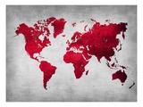World  Map 9 Posters av  NaxArt