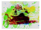 Classic Ferrari on Race Track Prints by  NaxArt