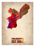 Philadelphia Watercolor Map Poster by  NaxArt