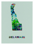Delaware Color Splatter Map Art by  NaxArt
