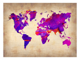 World Watercolor Map 5 Art by  NaxArt