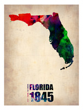 Florida Watercolor Map Prints by  NaxArt