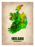 Ireland Watercolor Map Art by  NaxArt