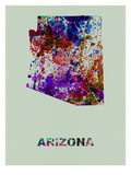 Arizona Color Splatter Map Print by  NaxArt