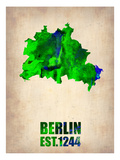 Berlin Watercolor Map Posters by  NaxArt