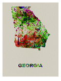 Georgia Color Splatter Map Posters by  NaxArt