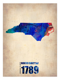 North Carolina Watercolor Map Posters by  NaxArt