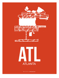 Atl Atlanta Poster 3 Prints by  NaxArt