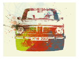 Bmw 2002 Front Watercolor 2 Print by  NaxArt