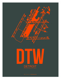 Dtw Detroit Poster 3 Posters by  NaxArt