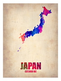Japan Watercolor Map Prints by  NaxArt