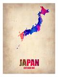 Japan Watercolor Map Prints by  NaxArt