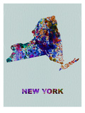 New York Color Splatter Map Prints by  NaxArt
