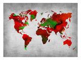 World Watercolor Map 11 Prints by  NaxArt