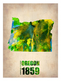 Oregon Watercolor Map Poster by  NaxArt