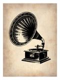 Gramophone 1 Print by  NaxArt