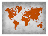 World Map 14 Plakater av  NaxArt
