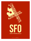 Sfo San Francisco Poster 2 Prints by  NaxArt