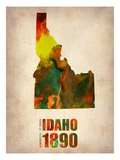 Idaho Watercolor Map Photographie par  NaxArt