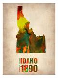 Idaho Watercolor Map Art by  NaxArt