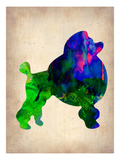 French Poodle Watercolor Prints by  NaxArt