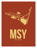 Msy New Orleans Poster 1 Posters by  NaxArt