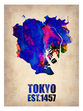 Tokyo Watercolor Map 1 Posters par  NaxArt
